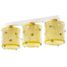 Φωτιστικό παιδικό σειρά Bee happy (μελισσούλες) τρίφωτο 3ΧΕ27 σε ράγα οροφής