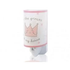 Φωτάκι νυχτός (φωτιστικό) παιδικό led πρίζας με διακόπτη πριγκίπισσα