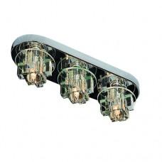 Φωτιστικό οροφής μεταλλικό ίνοξ τρίφωτο G9 x 3 χρώματος χρώμιο 10 x 36cm