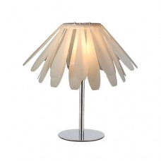 Φωτιστικό επιτραπέζιο λαμπατέρ πορτατίφ γραφείου δαπέδου μεταλλικό με λευκό πλαστικό καπέλο μονόφωτο 1 x Ε27