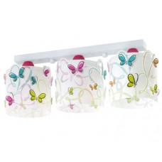 Φωτιστικό παιδικό Butterfly (πεταλουδες) τρίφωτο 3ΧΕ27 σε ράγα οροφής