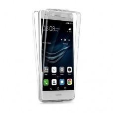 Θήκη HUAWEI P10 LITE κινητού τηλεφώνου TPU σιλικόνης χρώματος διάφανο front - back μπρος και πίσω όψης