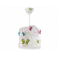Φωτιστικό παιδικό μονόφωτο κρεμαστό Butterfly (πεταλουδες) οροφής E27 με κιτ ανάρτησης με πεταλούδες που εξέχουν (δωρο μια λάμπα LED E27)