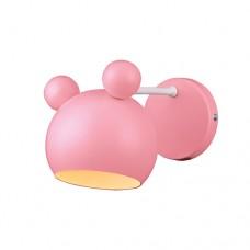 Φωτιστικό παιδικό απλίκα τοίχου μονόφωτο 1 x E27 σε σχήμα το κεφάλι Minnie mouse χρώματος ροζ