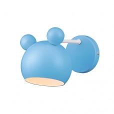 Φωτιστικό παιδικό απλίκα τοίχου μονόφωτο 1 x E27 σε σχήμα το κεφάλι Mickey mouse χρώματος μπλέ