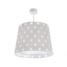 Φωτιστικό παιδικό μονόφωτο Stars Gray (αστερια γκρι) οροφής κρεμαστό E27 με κιτ ανάρτησης (δωρο μια λάμπα LED E27)