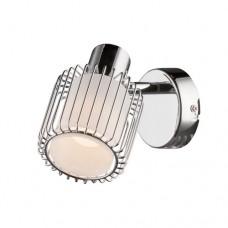 Φωτιστικό τοίχου απλίκα μονόφωτη 1 x Ε14 χρώματος χρώμιο σειρά Αbby μεταλλική με λευκό γυαλί 8cm x 12cm