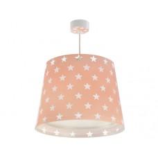 Φωτιστικό παιδικό μονόφωτο Stars somon (αστερια σομόν) οροφής κρεμαστό E27 με κιτ ανάρτησης (δωρο μια λάμπα LED E27)