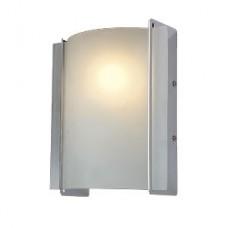 Φωτιστικό απλίκα πλαφονιέρα τοίχου και οροφής μονόφωτο 1 x Ε27 μεταλλικό χρώματος χρώμιο μάτ 20 x 20cm