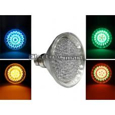 ΛΑΜΠΑ LED 8,5W PAR38 (ΚΗΠΟΥ) 15° ΣΚΛΗΡΑΣ ΥΑΛΟΥ IP65 Ε27 230V RGB ΠΟΛΥΧΡΩΜΗ (ΑΥΤΟΜΑΤΗ ΕΝΑΛΛΑΓΗ ΧΡΩΜΑΤΩΝ)