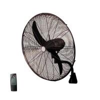 Ανεμιστήρας τοίχου μαύρος μεταλλικός επαγγελματικός βιομηχανικός Φ71cm 180W με τηλεχειριστήριο (τηλεκοντρόλ) 2 φτερωτές και 3 ταχύτητες