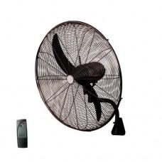 Ανεμιστήρας τοίχου μαύρος μεταλλικός επαγγελματικός βιομηχανικός Φ66cm 180W με τηλεχειριστήριο (τηλεκοντρόλ) 2 φτερωτές και 3 ταχύτητες