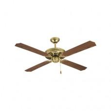 Ανεμιστήρας οροφής καφέ χρυσό διάμετρος Φ130cm ύψος 40cm 70W με 3 ταχύτητες και 4 φτερωτές