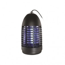 Εντομοκτόνο (εντομοπαγίδα) 4W ηλεκτρικό με δίσκο περισυλλογής εντόμων και ηλεκτρονικό μετασχηματιστή κάλυψη εώς 20τμ πλαστικό 26cm μαύρο