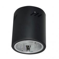 Φωτιστικό οροφής εξωτερικό επίτοιχο GU10 στρογγυλό αλουμινίου μαύρο Φ6,8cm ύψος 14,8cm επαγγελματικό για λάμπες led
