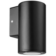 Φωτιστικό απλίκα τοίχου πλαστική GU10 μονή στρογγυλή χρώματος μαύρο 14,8cm στεγανή IP65 εξωτερικού χώρου