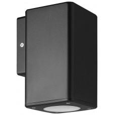Φωτιστικό απλίκα τοίχου πλαστική GU10 μονής δέσμης τετράγωνη χρώματος μαύρο 14,8cm στεγανή IP65 εξωτερικού χώρου