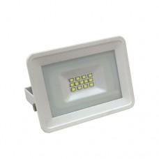 Προβολέας led 10W smd ενδιάμεσο ουδέτερο λευκό φώς 4000Κ extra slim τύπου tablet αλουμινίου λευκό σώμα στεγανός αδιάβροχος IP65 850 lumens