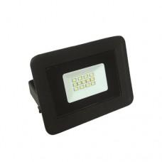 Προβολέας led 10W smd ενδιάμεσο λευκό φώς 4000Κ extra slim τύπου tablet αλουμινίου χρώματος μαύρο στεγανός αδιάβροχος IP65 850 lumens