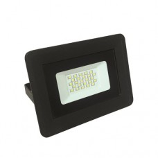 Προβολέας led 30W smd θερμό λευκό φώς 3000Κ extra slim τύπου tablet αλουμινίου χρώματος μαύρο στεγανός αδιάβροχος IP65 2550 lumens