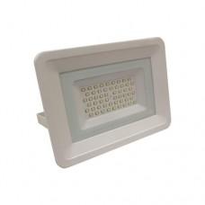 Προβολέας led 50W smd ψυχρό λευκό φώς 6500Κ extra slim τύπου tablet αλουμινίου χρώματος λευκό στεγανός αδιάβροχος IP65 4250 lumens