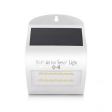 Φωτιστικό led 3W ηλιακό με φωτοβολταικό πάνελ (panel) με ανιχνευτή κίνησης ενδιάμεσο φώς 4000Κ στεγανό αδιάβροχο IP65 350 lumens