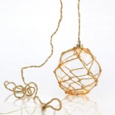 Χριστουγεννιάτικος διακοσμητικός φωτισμός led με γυάλινη μπάλα Φ15cm σε σχοινί μήκος 200cm με μετασχηματιστή και 10 led θερμό λευκό φώς