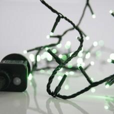 Χριστουγεννιάτικα 100 led λαμπάκια (φωτάκια) πράσινο χρώμα σε σειρά με πρόγραμμα και πράσινο καλώδιο 795cm στεγανά IP44
