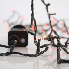 Χριστουγεννιάτικα 240 led λαμπάκια (φωτάκια) κόκκινο χρώμα σε σειρά με πρόγραμμα και πράσινο καλώδιο 1495cm στεγανά IP44