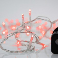 240 led Χριστουγεννιάτικα λαμπάκια (φωτάκια) κόκκινο χρώμα σε σειρά με πρόγραμμα και διάφανο καλώδιο 1495cm στεγανά IP44