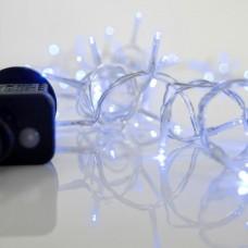 Χριστουγεννιάτικα λαμπάκια (φωτάκια) 240 led μπλέ χρώμα σε σειρά με πρόγραμμα και διάφανο καλώδιο 1495cm στεγανά IP44