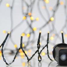 Χριστουγεννιάτικα 700 led λαμπάκια (φωτάκια) θερμό χρώμα σε σειρά με πρόγραμμα και πράσινο καλώδιο 3795cm στεγανά IP44