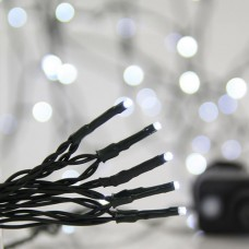 700 led Χριστουγεννιάτικα λαμπάκια (φωτάκια) ψυχρό χρώμα σε σειρά με πρόγραμμα και πράσινο καλώδιο 3795cm στεγανά IP44