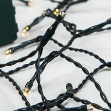20 Χριστουγεννιάτικα θερμά led λαμπάκια (φωτάκια) μπαταρίας 3ΑΑ μη στεγανά IP20 και πράσινο καλώδιο 145cm