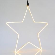 Χριστουγεννιάτικο αστέρι με 240 led και 2 μέτρα neon φωτοσωλήνα θερμό φώς 55cm x 55cm εξωτερικού χώρου στεγανό IP44