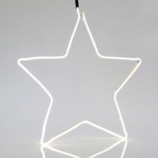 Χριστουγεννιάτικο αστέρι με 240 led και 2 μέτρα neon φωτοσωλήνα λευκό φώς 55cm x 55cm εξωτερικού χώρου στεγανό IP44