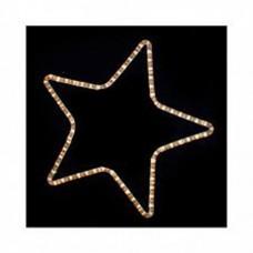 Χριστουγεννιάτικο αστέρι με 24 led μονό θερμό λευκό φώς και 1 μέτρο φωτοσωλήνα 32 x 29cm εξωτερικού χώρου στεγανό IP44