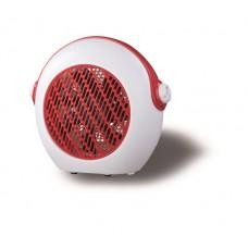 Αερόθερμο 2000W λευκό κόκκινο κάλυψη εώς 15-20m² με 2 επιλογές θερμού αέρα και 7 φτερωτές για ομοιόμορφη διάχυση θερμότητας