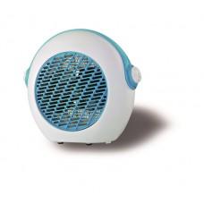 Αερόθερμο 2000W λευκό μπλέ κάλυψη εώς 15-20m² με 2 επιλογές θερμού αέρα και 7 φτερωτές για ομοιόμορφη διάχυση θερμότητας