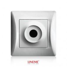 Πλάκα εξόδου καλωδίων με οπή τρύπα ασημί νίκελ ματ χρώμα σειρά lineme