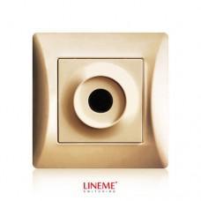 Πλάκα εξόδου καλωδίων με οπή τρύπα χρυσό ματ χρώμα σειρά lineme