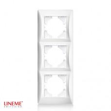 Πλαίσιο 3 (τριών) θέσεων κάθετο λευκό χρώμα σειρά lineme
