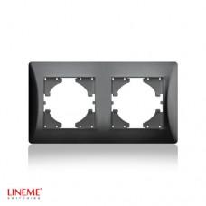 Πλαίσιο 2 (δύο) θέσεων οριζόντιο μαύρο γραφίτης χρώμα σειρά lineme