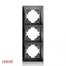 Πλαίσιο 3 (τριών) θέσεων κάθετο μαύρο γραφίτης χρώμα σειρά lineme