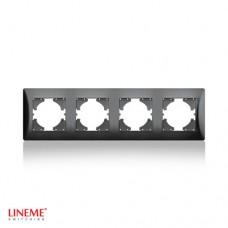 Πλαίσιο 4 (τεσσάρων) θέσεων οριζόντιο μαύρο γραφίτης χρώμα σειρά lineme