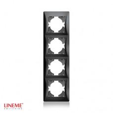 Πλαίσιο 4 (τεσσάρων) θέσεων κάθετο μαύρο γραφίτης χρώμα σειρά lineme