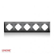Πλαίσιο 5 (πέντε) θέσεων οριζόντιο μαύρο γραφίτης χρώμα σειρά lineme