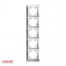 Πλαίσιο 5 (πέντε) θέσεων κάθετο νίκελ ματ ασημί χρώμα σειρά lineme