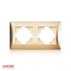 Πλαίσιο 2 (δύο) θέσεων οριζόντιο χρυσό ματ χρώμα σειρά lineme