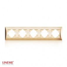 Πλαίσιο 5 (πέντε) θέσεων οριζόντιο χρυσό ματ χρώμα σειρά lineme